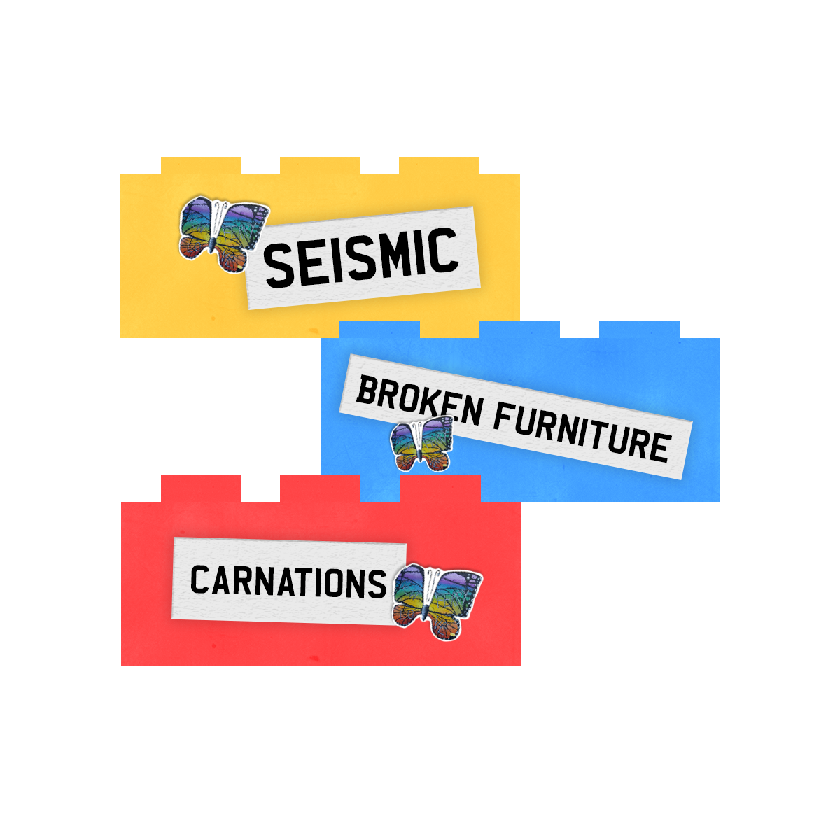Seismic Broken Furniture Carnations